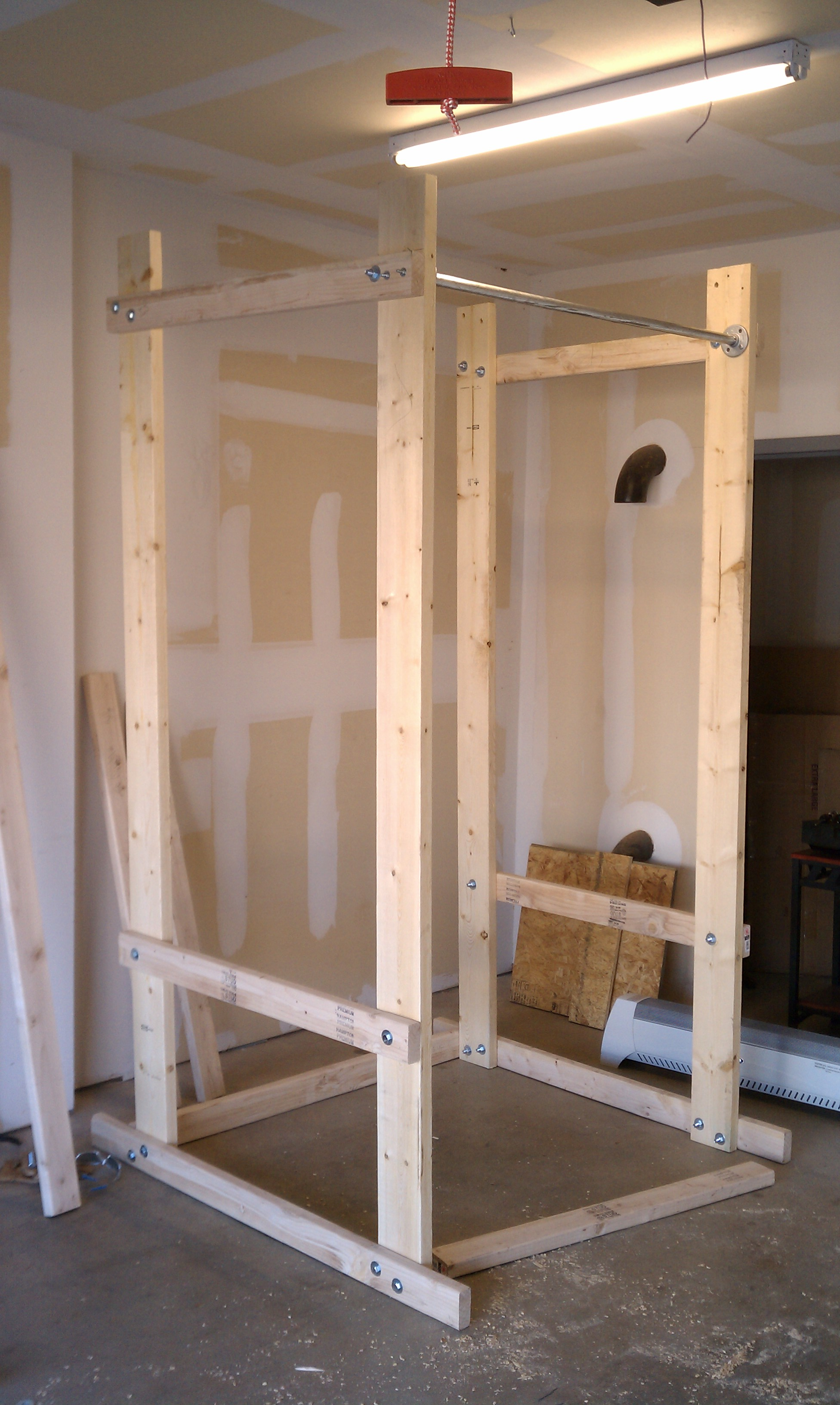 cage pinterest homemade pin squat wooden diy rack power