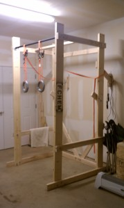 Build your own crossfit power rack end of three for Homemade weight rack plans